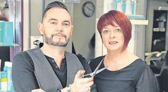 Hoping for a cut: Deirdre and Anthony Kilcoyne, who run Salon 2 hair salon in Sligo town. Photo: Damien Eagers / INM