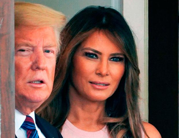 US President Donald Trump and First Lady Melania Trump. Photo: Getty Images