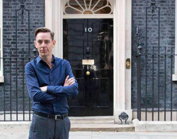 Ryan Tubridy outside No 10, Downing Street