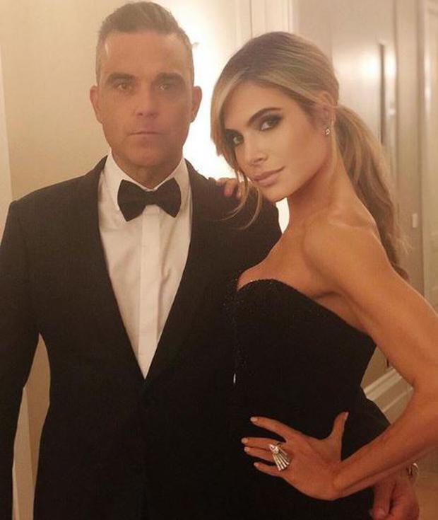 Robbie Williams and Ayda Field. PIC: Ayda Field/Instagram