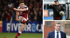 Paddy Jackson, Jono Gibbes and Stuart Olding are no longer at the club after the scandal CREDIT: GETTY IMAGES