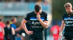 Bath's Freddie Burns after the European Champions Cup match at the Recreation Ground, Bath. PRESS ASSOCIATION Photo. Picture date: Saturday October 13, 2018. See PA story RUGBYU Bath. Photo credit should read: David Davies/PA Wire.