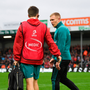 13 October 2018; Keith Earls of Munster prior to the Heineken Champions Cup Pool 2 Round 1 match between Exeter Chiefs and Munster at Sandy Park in Exeter, England. Photo by Brendan Moran/Sportsfile