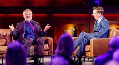 TALK THE TALK: Graham Norton with Ryan Tubridy in London. Photo: Andres Poveda