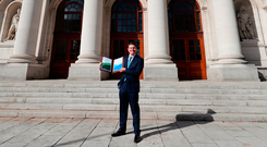 Finance Minister Paschal Donohoe introduced a measure in Tuesday's Budget that reduced the overall risk to corporation tax receipts. The unexpected introduction of an 'exit' tax of 12.5pc on corporate assets that are moved out of the country could be significant.. Photo: Niall Carson/PA