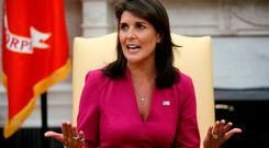Former U.S. Ambassador to the United Nations Nikki Haley. Photo: Evan Vucci/AP Photo