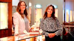 Gail Banim, director of commerce and marketing, and Sarah Murtagh, group director of people, in Fields the Jeweller, Grafton St. Photo: David Conachy