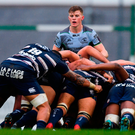 The Connacht scrum. Photo: Piaras Ó Mídheach/Sportsfile