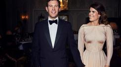 Princess Eugenie opted for Zac Posen for her second wedding dress