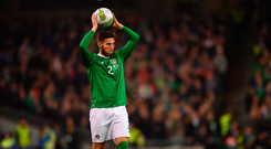 13 October 2018; Matt Doherty of Republic of Ireland during the UEFA Nations League B group four match between Republic of Ireland and Denmark at the Aviva Stadium in Dublin. Photo by Ramsey Cardy/Sportsfile