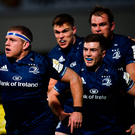 12 October 2018; Seán Cronin of Leinster celebrates after scoring his side's first try during the Heineken Champions Cup Pool 1 Round 1 match between Leinster and Wasps at the RDS Arena in Dublin. Photo by Ramsey Cardy/Sportsfile