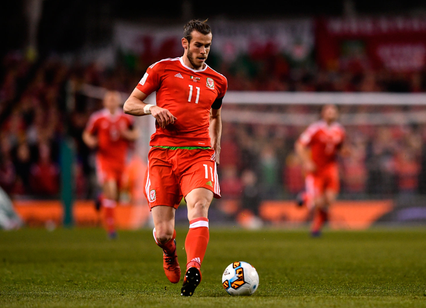 24 March 2017; Gareth Bale of Wales during the FIFA World Cup Qualifier Group D match between Republic of Ireland and Wales at the Aviva Stadium in Dublin. Photo by Ramsey Cardy/Sportsfile