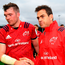 Munster head coach Johann van Graan, right, with captain Peter O'Mahony