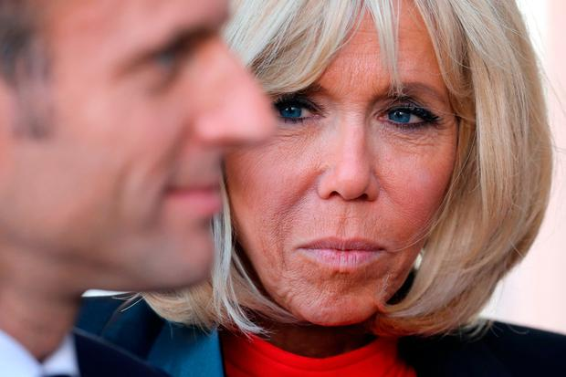 Claims: Brigitte Macron, wife of the French president Emmanuel Macron. Photo: AFP/Getty Images