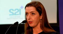 Campaign: Vicky Phelan speaks at the launch of the The 221Plus CervicalCheck Patient Support Group. Photo: Caroline Quinn