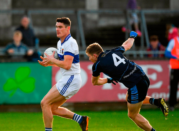 Diarmuid Connolly of St. Vincent's in action against Cillian O'Reilly of St. Jude's