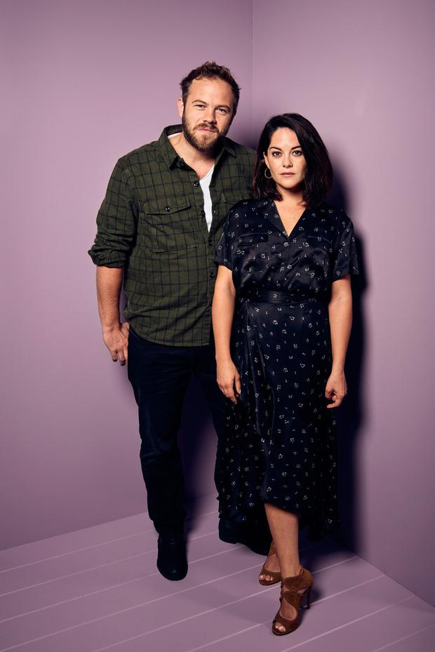 Sarah Greene with Rosie co-star Moe Dunford. Photo: Gareth Cattermole/Getty Images