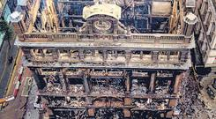 The landmark Bank Buildings store was destroyed by fire in August