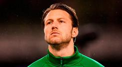 Harry Arter of Republic of Ireland prior to the UEFA Nations League B group four match between Republic of Ireland and Denmark at the Aviva Stadium in Dublin. Photo by Stephen McCarthy/Sportsfile
