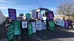 ICSA beef price protest in Ballyhaunis Co Mayo. Image: ICSA