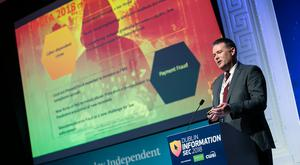 Michael Gubbins Garda Cyber Crime Bureau at the 2018 Information Sec in the RDS