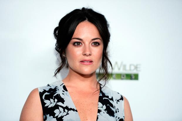 Sarah Greene arrives at the 2016 Oscar Wilde Awards at Bad Robot on February 25, 2016 in Santa Monica, California. (Photo by Amanda Edwards/WireImage)