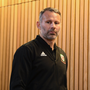15 October 2018; Wales manager Ryan Giggs during a press conference at the Aviva Stadium in Dublin. Photo by Stephen McCarthy/Sportsfile