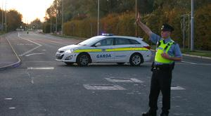 Gardai close off the new Nangor Road leading to An Post sorting centre. PicL Damien Eagers / INM