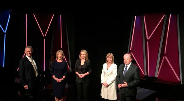 All four candidates criticised President Michael D Higgins and Sean Gallagher for not showing up for the campaign's first live television debate