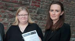 Claire McGettrick and Maeve O'Rourke of the Clann Project at the launch. Photo: Arthur Carron