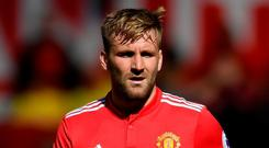 Luke Shaw has signed a new deal with Man United. Photo: Ross Kinnaird/Getty Images