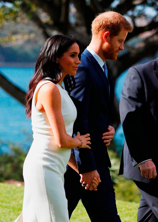 Prince Harry, Duke of Sussex and Meghan, Duchess of Sussex attend a Welcome Event at Admiralty House on October 16, 2018 in Sydney, Australia