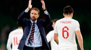 England manager Gareth Southgate applauds their fans
