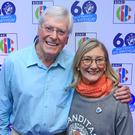 Former Blue Peter hosts Peter Purves and Lesley Judd (Peter Byrne/PA)