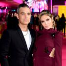 Robbie Williams and Ayda Field at the ITV Palooza (Ian West/PA)
