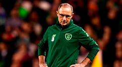 Republic of Ireland manager Martin O'Neill during the UEFA Nations League B group four match between Republic of Ireland and Wales at the Aviva Stadium in Dublin. Photo by Stephen McCarthy/Sportsfile