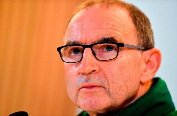 Republic of Ireland manager Martin O'Neill during a press conference following the UEFA Nations League B group four match between Republic of Ireland and Wales at the Aviva Stadium in Dublin. Photo by Brendan Moran/Sportsfile