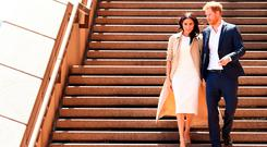 Prince Harry, Duke of Sussex and Meghan, Duchess of Sussex meet the public at Sydney Opera House on October 16, 2018 in Sydney, Australia