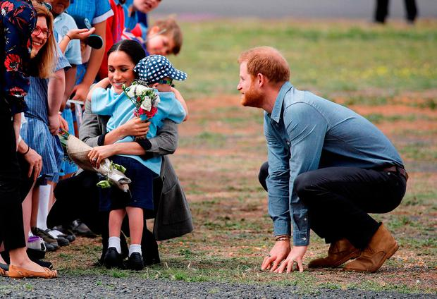 Australian boy's heart-melting hug for Royal couple