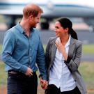 Prince Harry, Duke of Sussex and Meghan, Duchess of Sussex arrive at Dubbo Airport on October 17, 2018 in Dubbo, Australia