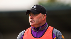 7 October 2018; Kilmacud Crokes manager Anthony Daly during the Dublin County Senior Club Hurling Championship semi-final match between Kilmacud Crokes and Cuala at Parnell Park in Dublin. Photo by Daire Brennan/Sportsfile