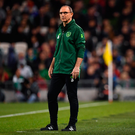 16 October 2018; Republic of Ireland manager Martin O'Neill during the UEFA Nations League B group four match between Republic of Ireland and Wales at the Aviva Stadium in Dublin. Photo by Brendan Moran/Sportsfile