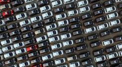 This came after Goldman Sachs analysts said slowing car demand in China and new regulations on emissions testing were hurting investors' sentiment toward European carmaker stocks. Photo: REUTERS