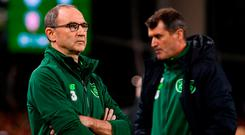 Martin O'Neill and Roy Keane have endured a difficult few months at the helm of the Irish team. Photo: Stephen McCarthy/Sportsfile