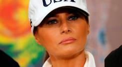US First Lady Melania Trump was caught up in air drama. Photo: Reuters