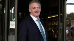 'Too much PC': Presidential candidate Peter Casey arrives at RTÉ yesterday. Photo: Damien Eagers