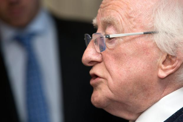 Neutral: President Michael D Higgins is standing as an independent candidate. Picture: Tony Gavin