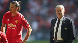 Zlatan Ibrahimovic and Jose Mourinho. Credit: Getty Images.