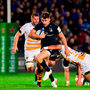 Garry Ringrose breaks away from the challenge of three Wasps players during Leinster's victory against Wasps. Photo: Sportsfile