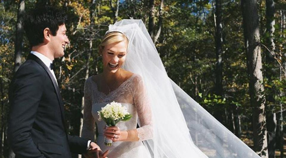Joshua Kushner and Karlie Kloss on their wedding day. Picture: Instagram